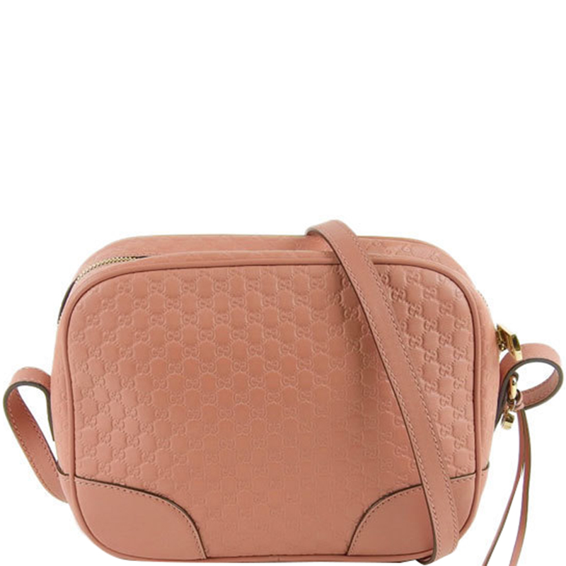 fashion new lower prices big discount of 2019 Gucci Pink Leather Guccisima Micro Crossbody Bag