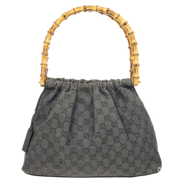 6dbe972c1 Buy Gucci Denim Bag With Wooden Bamboo 23128 at best price | TLC
