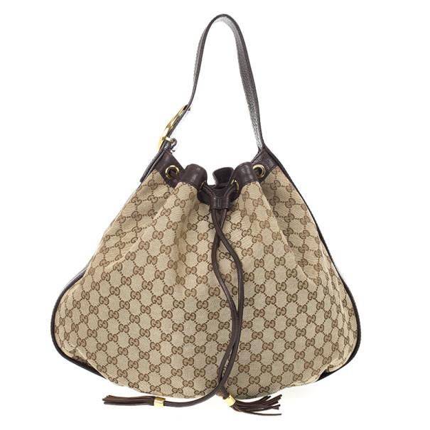 30a1955ae094 Buy Gucci Monogram GG 'Interlocking Icon' Drawstring Shoulder Bag ...