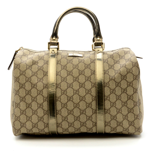 2363a98bb Buy Gucci Gucissima Metallic Joy Boston Bag 23502 at best price | TLC