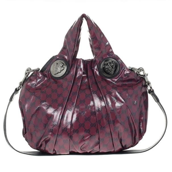 f0bf5cebf49 ... Gucci Maroon Crystal Monogram Small Hysteria Top Handle Bag. nextprev.  prevnext