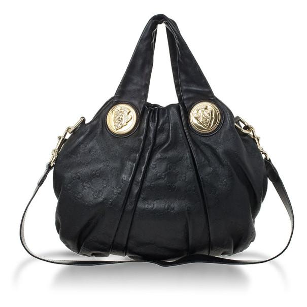 ee688288e38 Buy Gucci Black Guccissima Leather Hysteria Hobo 25454 at best price ...