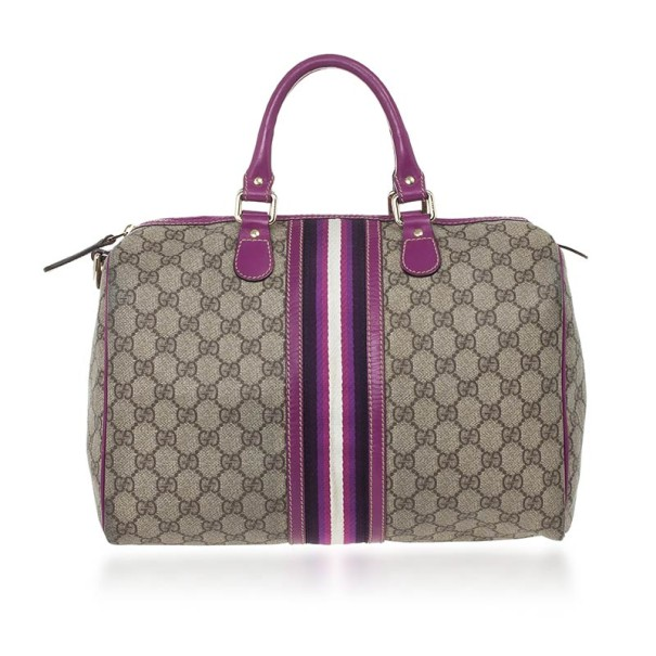 6ae3f5b3dff5 Buy Gucci Limited Edition Purple Stripe GG Monogram Joy Boston Bag 25640 at  best price