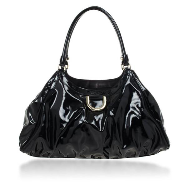 acb211ba8 ... Gucci Black Patent Leather D Ring Large Hobo Bag. nextprev. prevnext