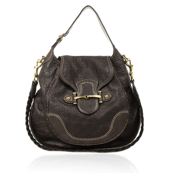 ac428f40a42 Buy Gucci Brown Emily Guccissima Leather Hobo 26779 at best price