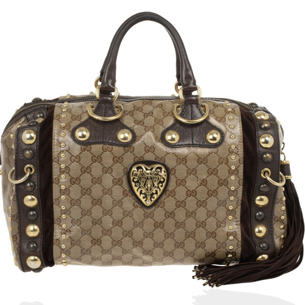 557fe4741 Buy Gucci Babouska Crystal GG Crest Boston Bag 26805 at best price | TLC