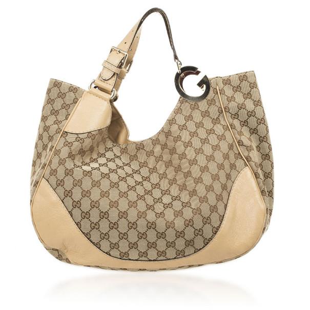 c48993b7d55 Buy Gucci Monogram GG Light Beige Jockey Hobo Large Bag 26824 at ...