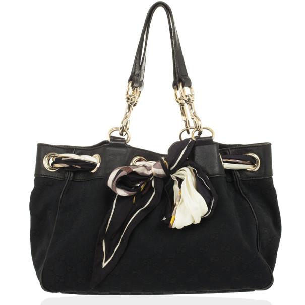 00982c1e88a276 ... Gucci Black GG Canvas Positano Large Tote Bag. nextprev. prevnext