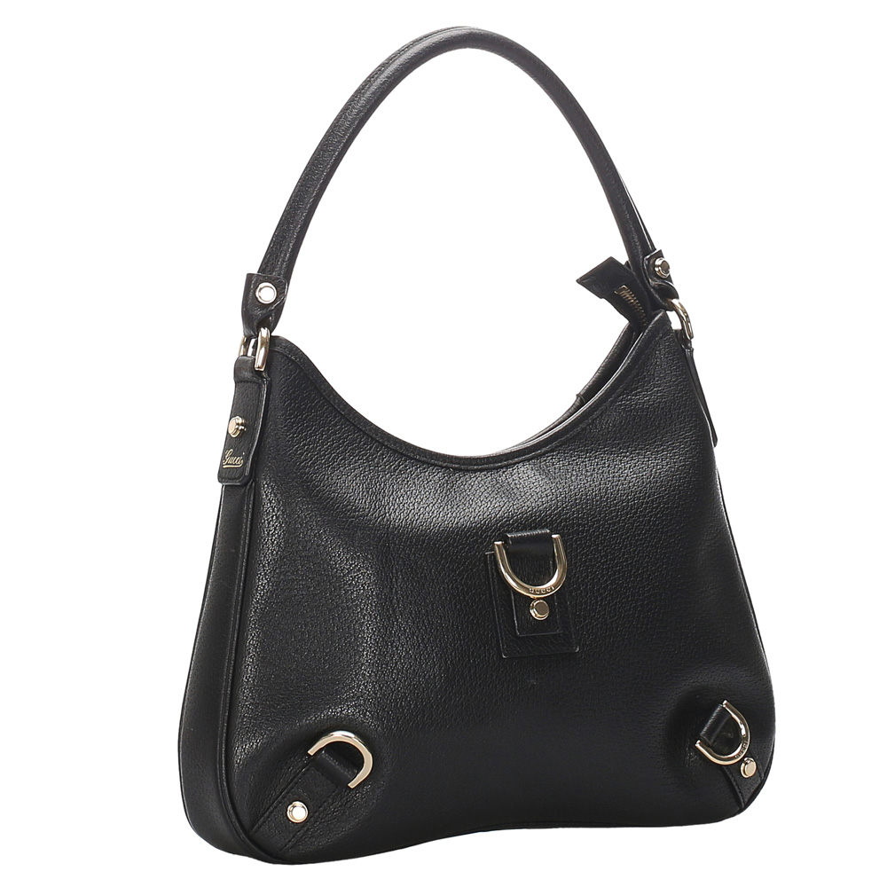 Gucci Black Leather Abbey Bag