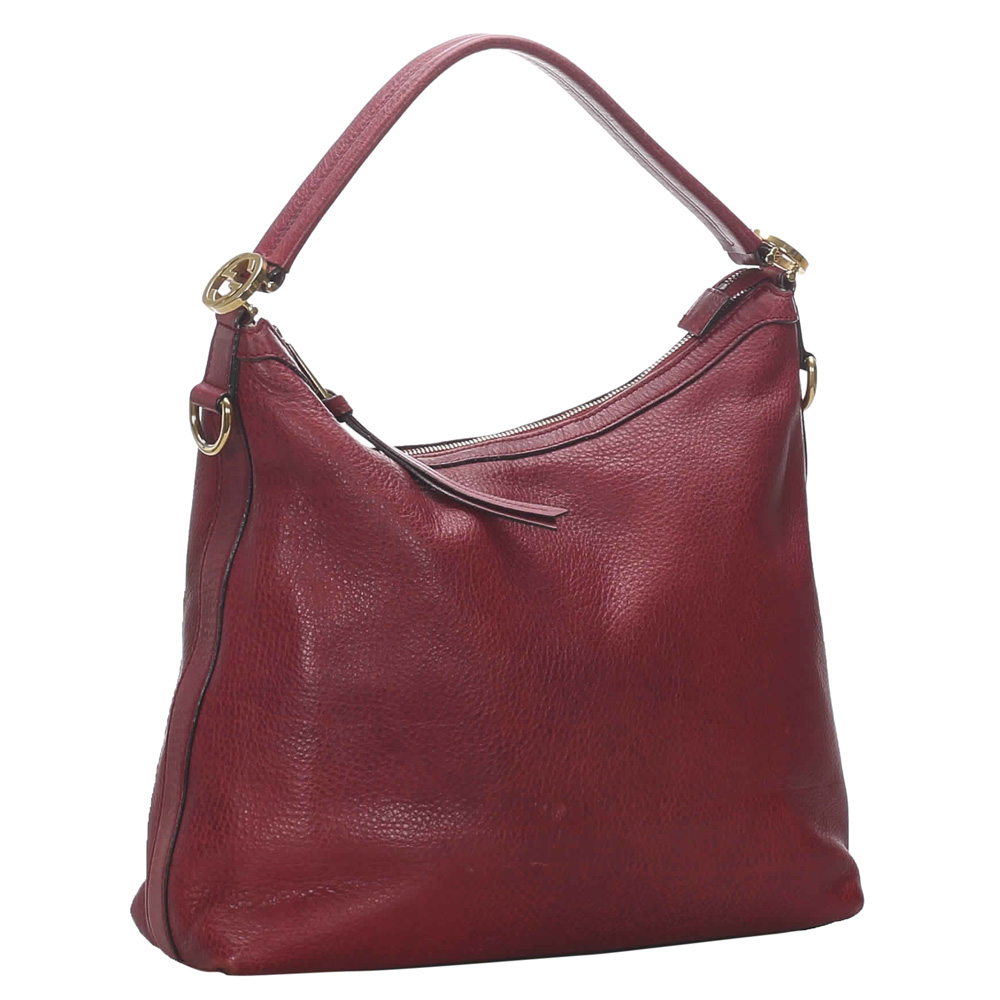 Gucci Red Leather Miss GG Satchel