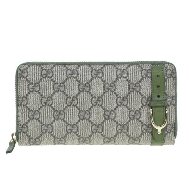 c62629b29955 ... Gucci Beige Canvas Nice GG Supreme Zip Around Wallet. nextprev. prevnext
