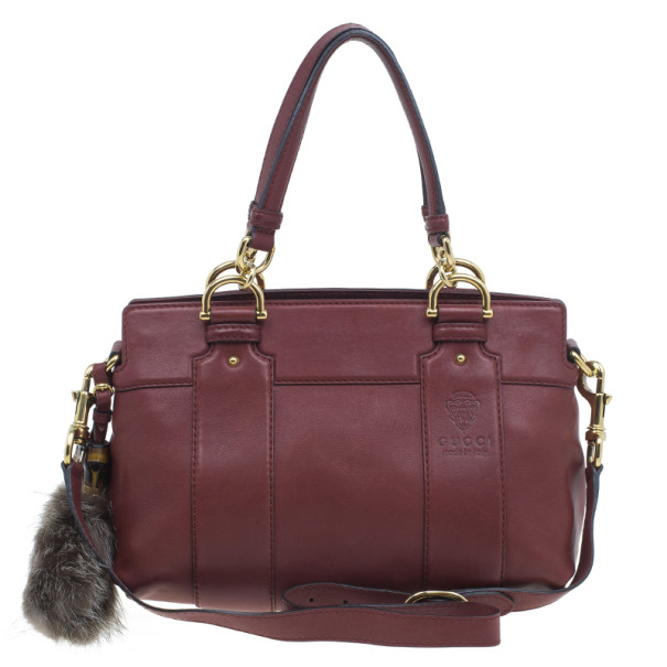 219f2bd16f5c Buy Gucci Burgundy Calfskin Leather Smilla Tote 2931 at best price | TLC