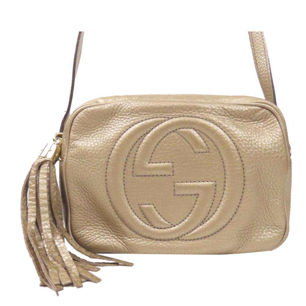 Gucci Gold Leather Soho Disco Crossbody Bag