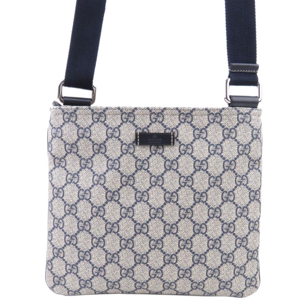 Gucci Brown GG Supreme Canvas Crossbody Bag