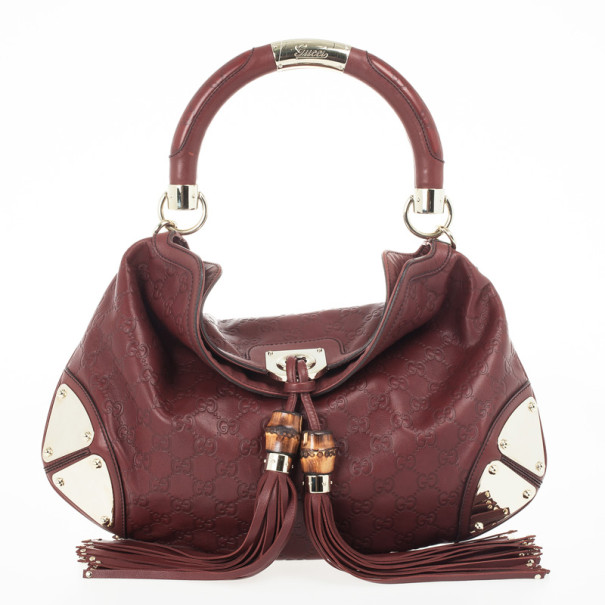 947865396b0b5f ... Gucci Red Guccissima Leather Medium Babouska Indy Top Handle Bag.  nextprev. prevnext