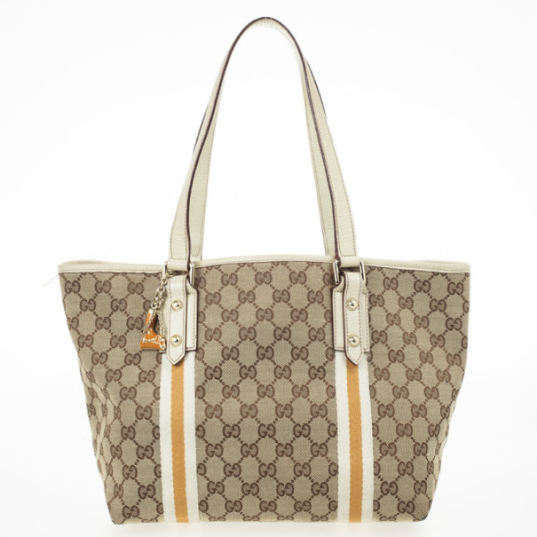 01f47e38e64 Buy Gucci Cream GG Jolicoeur Medium Tote Bag 29984 at best price | TLC