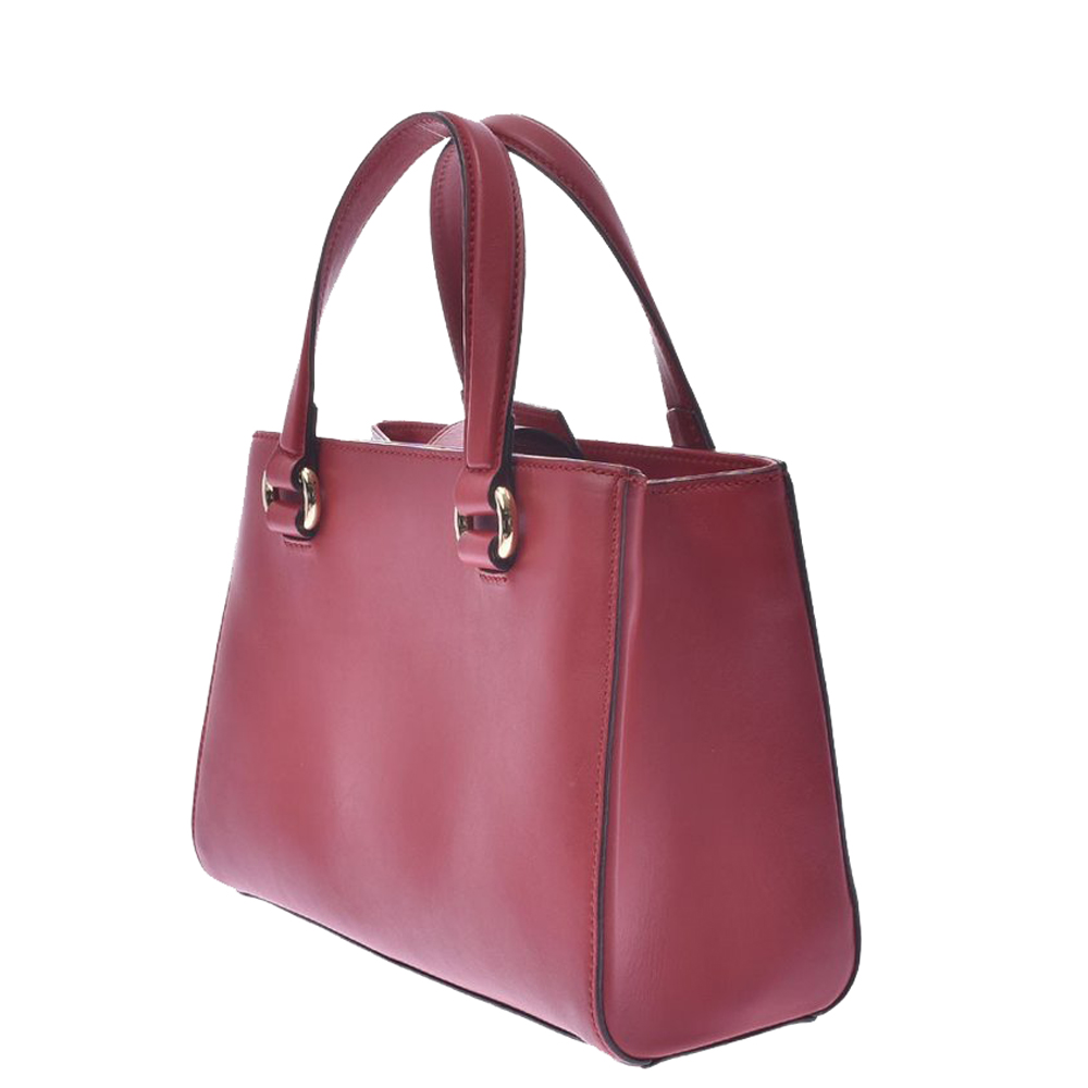 Gucci Red Leather Vintage Web Small Sylvie Top Handle Bag