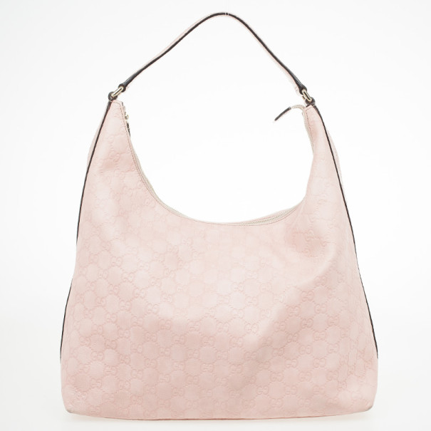 c4dda3f2ff9 Buy Gucci Pink Bree Guccissima Leather Hobo 30368 at best price