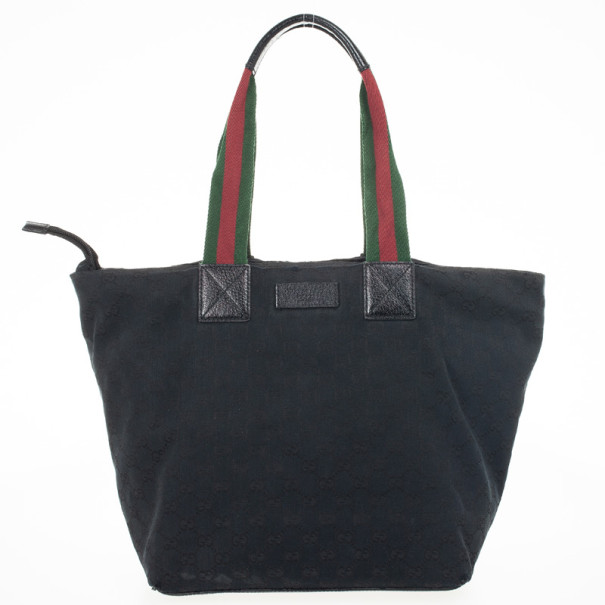 927b479a5 Buy Gucci Black Monogram GG Canvas Tote 31024 at best price   TLC