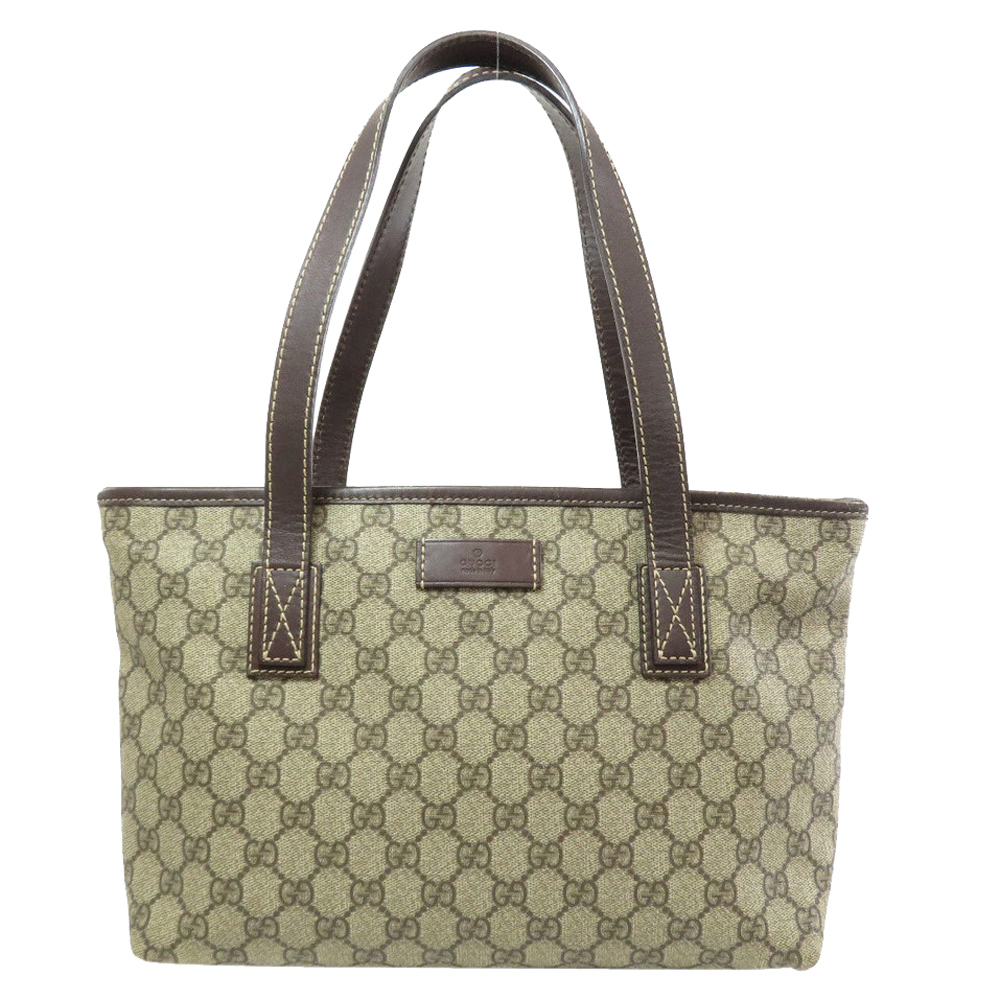 Pre-owned Gucci Brown Gg Coated Canvas Supreme Tote