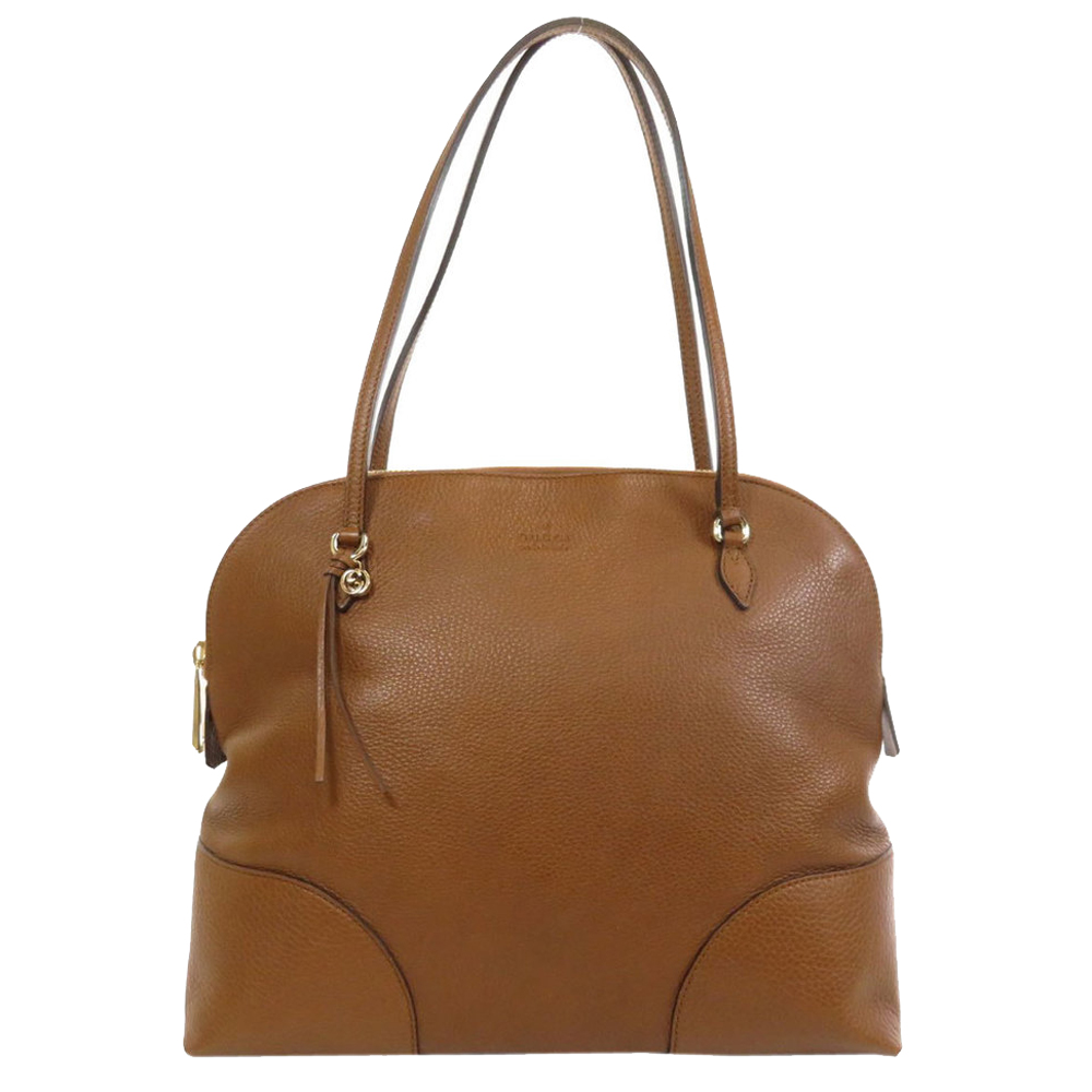 Pre-owned Gucci Brown Leather Bree Satchel Bag