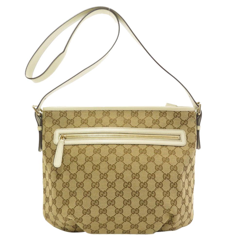 Pre-owned Gucci Beige Gg Canvas Shoulder Bag