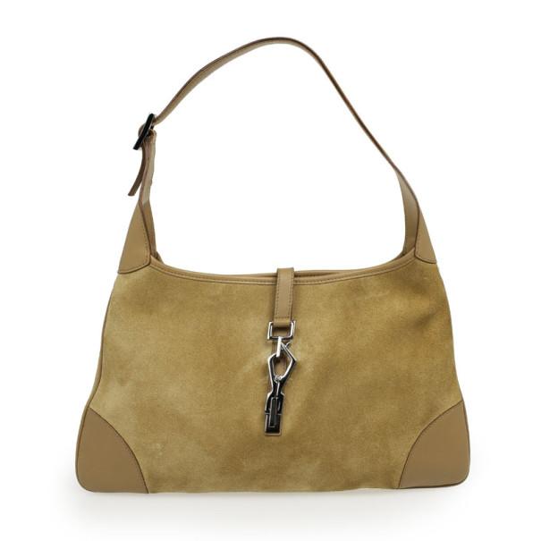 61184fb0e ... Gucci Beige Suede Large Jackie O Shoulder Bag. nextprev. prevnext