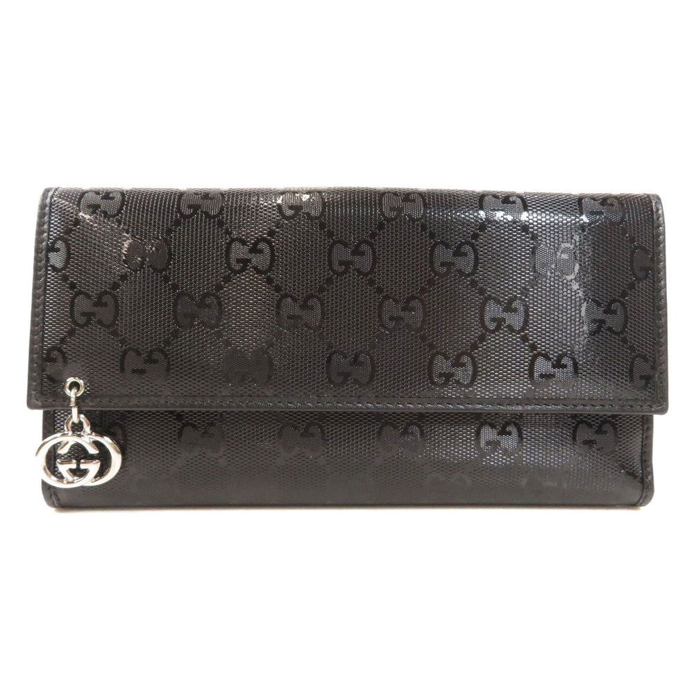 Pre-owned Gucci Black Leather Wallet