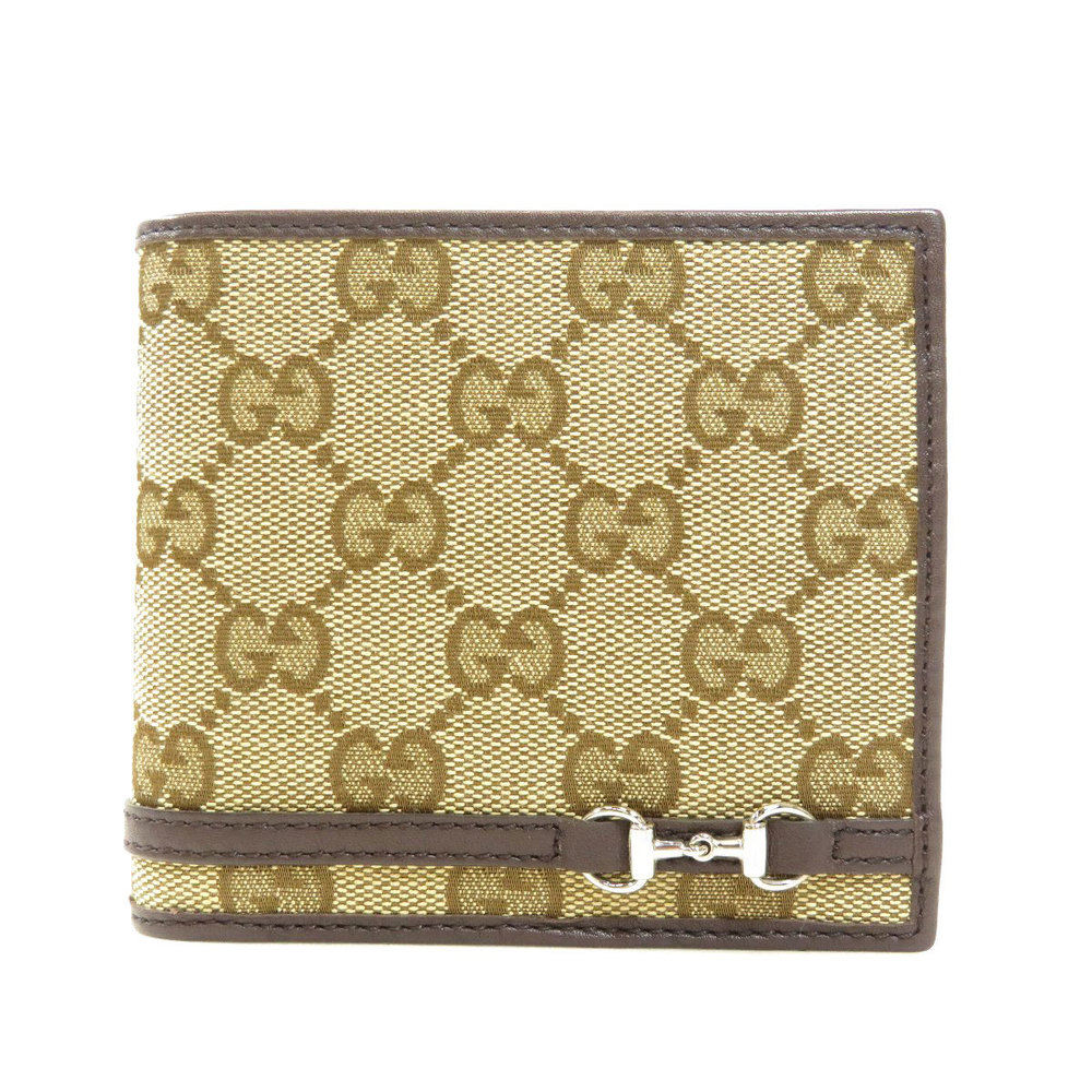 Pre-owned Gucci Beige/brown Gg Canvas Bifold Wallet
