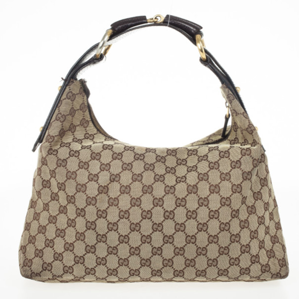 Buy Gucci Monogram Horsebit Hobo Bag 33272 at best price  7deabcac38abd
