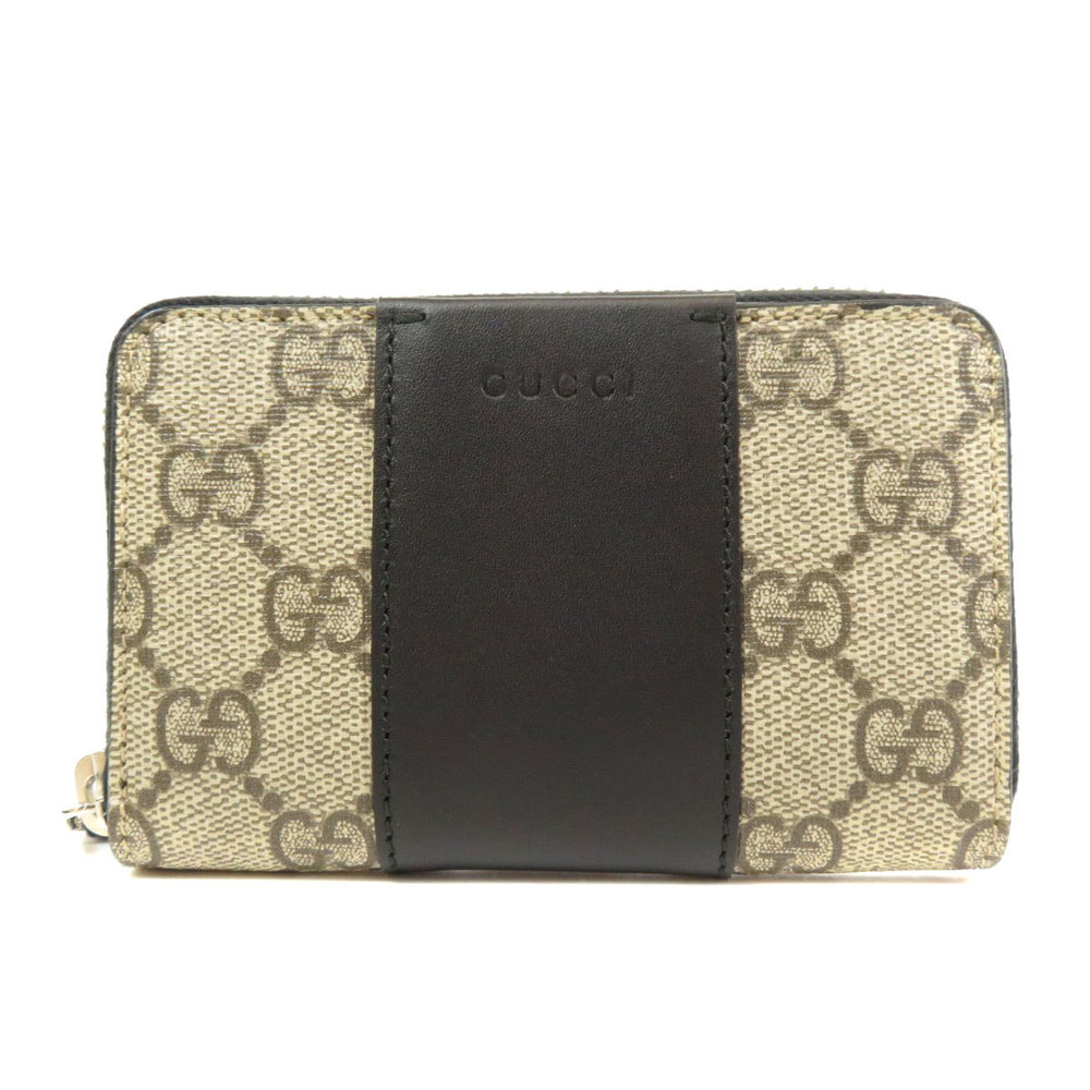 Pre-owned Gucci Beige/brown Gg Supreme Canvas Wallet