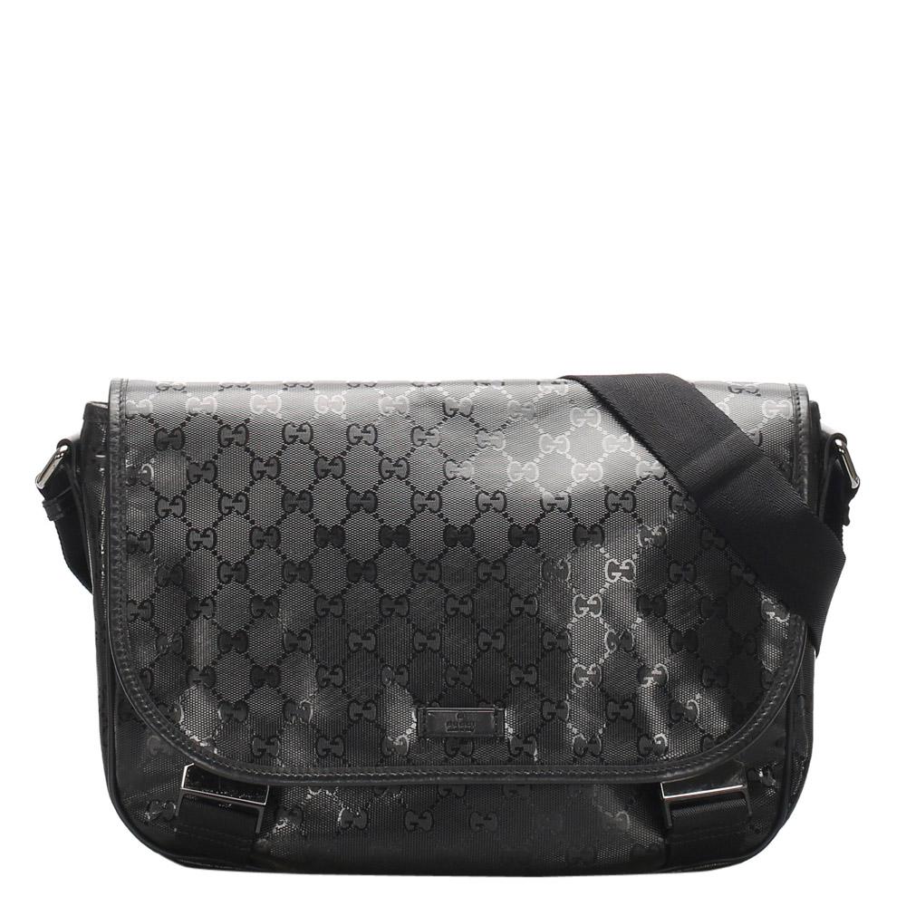 Gucci Black GG Canvas Imprime Bag