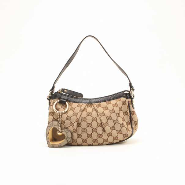 cd6a84e005e Buy Gucci Monogram GG Heart Small Shoulder Bag 36105 at best price
