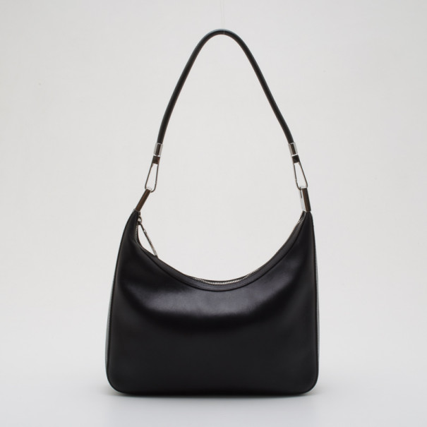 99a2496437c Gucci Vintage Black Leather Small Hobo 36706 At Best Tlc. Gg Supreme  Messenger