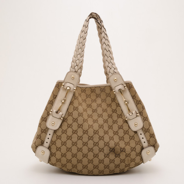 93e842e13 Buy Gucci Monogram Horsebit Pelham Hobo 37345 at best price | TLC