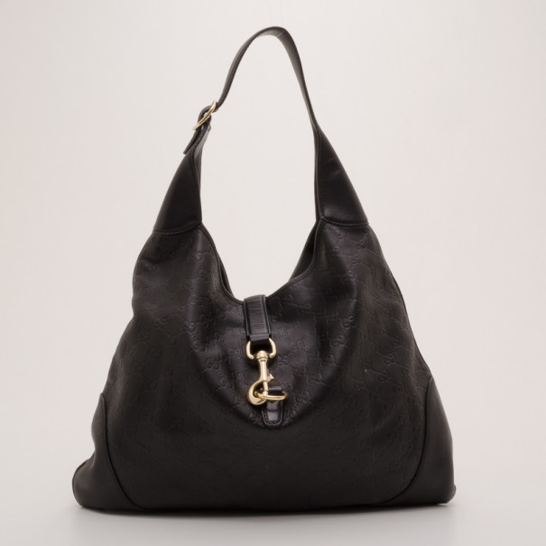 8117211b557e Buy Gucci Black Guccissima Leather New Jackie Hobo 37352 at best ...