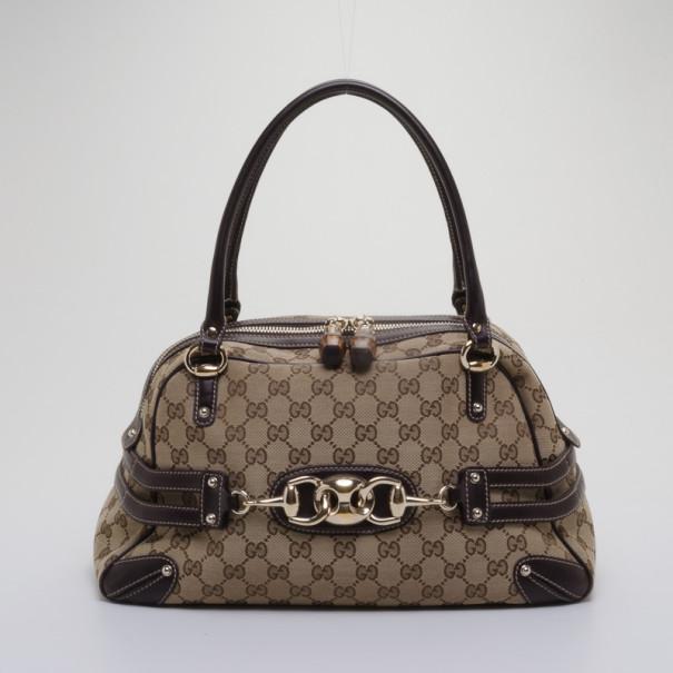 fe6fd67e399 Buy Gucci Monogram Wave Medium Boston Bag 37990 at best price