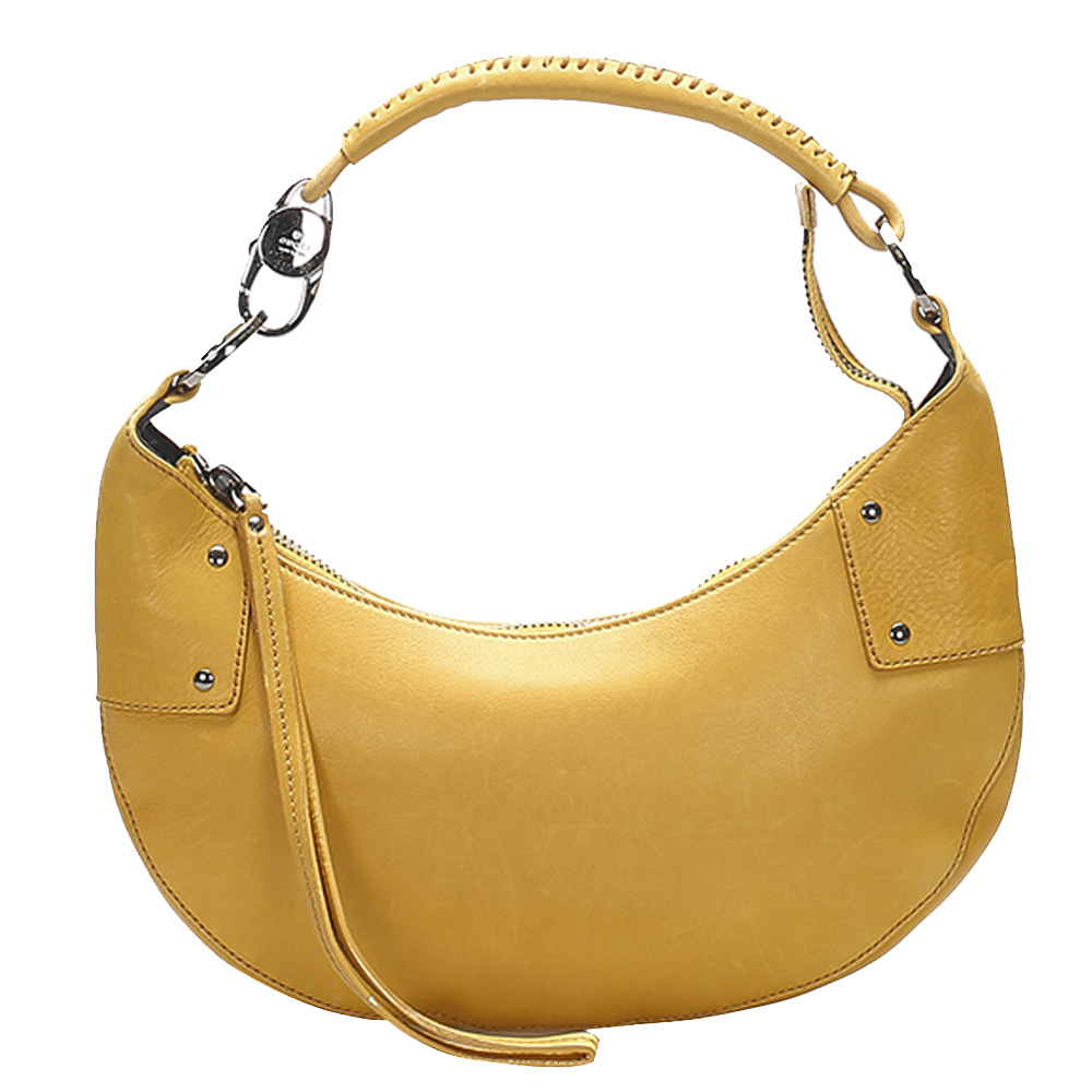 Pre-owned Gucci Yellow Leather Half Moon Hobo Bag