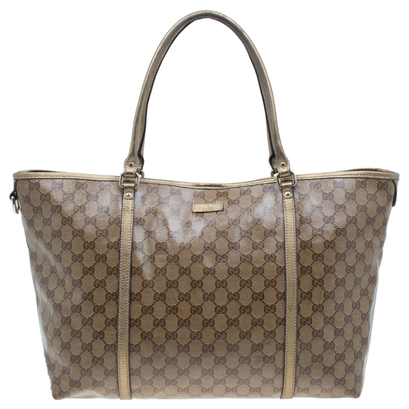747048e2eec ... Gucci Gold GG Crystal Coated Canvas Large Joy Tote Bag. nextprev.  prevnext