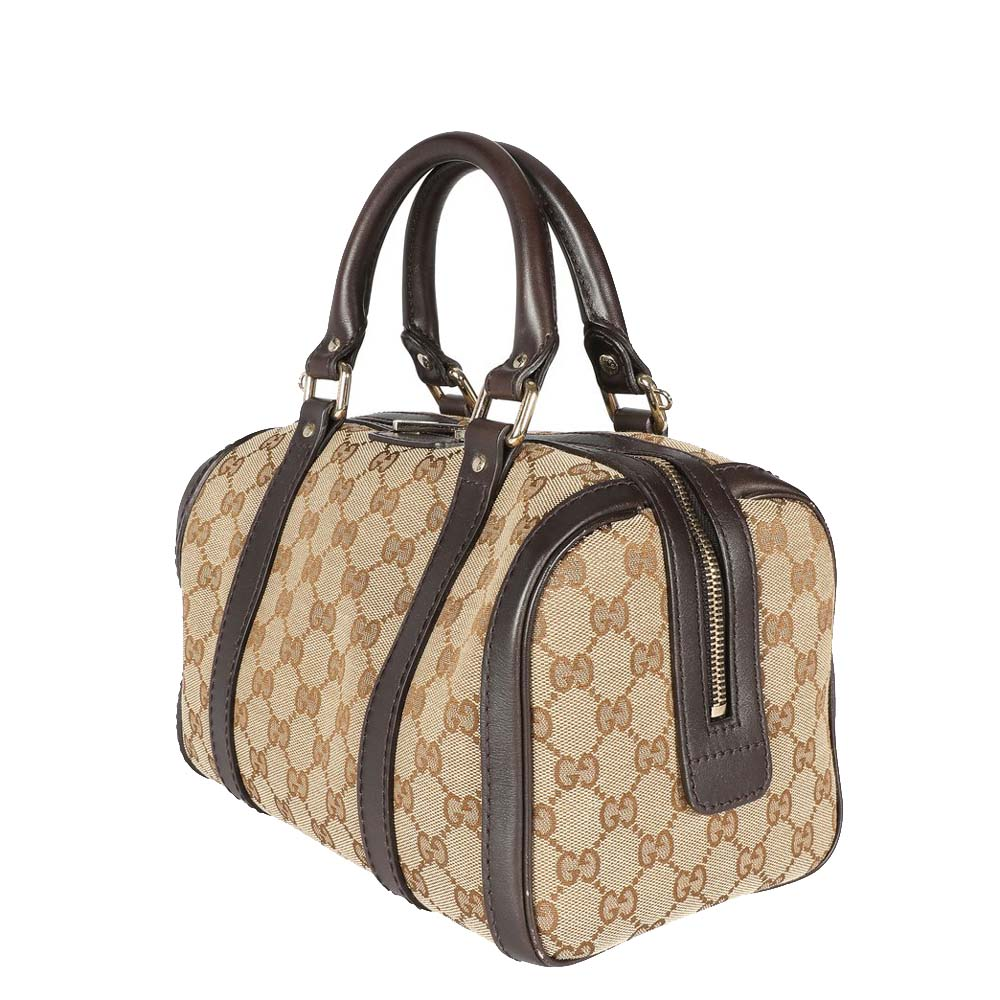 Gucci Brown GG Canvas & Leather Joy Boston Bag  - buy with discount