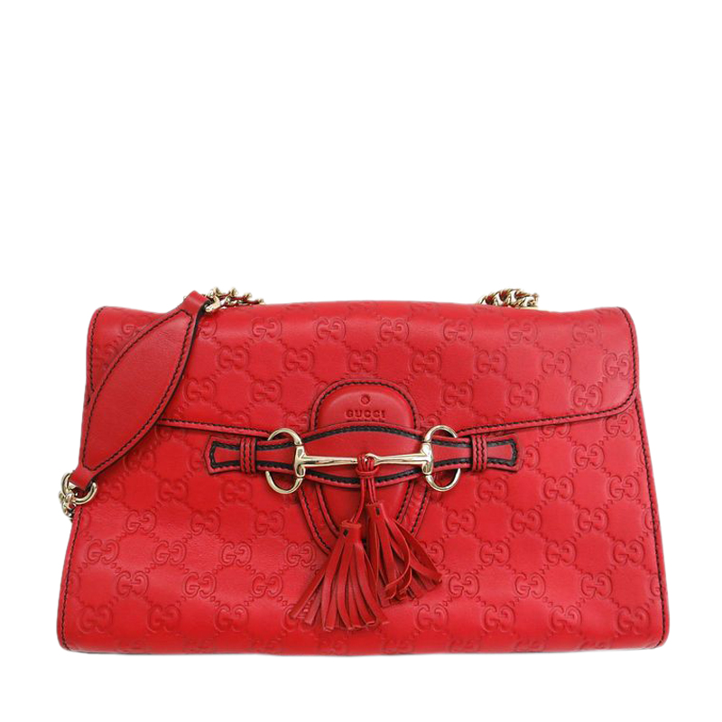 873c96b8bb1 Buy Gucci Red Guccissima Emily Shoulder Bag 44225 at best price