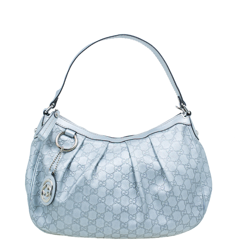 bf1a3198e447 ... Gucci Silver Guccissima Leather Sukey Medium Hobo Bag. nextprev.  prevnext