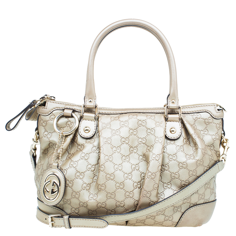 2a701645eb54 ... Gucci Champagne Guccissima Leather Medium Sukey Top Handle Tote Bag.  nextprev. prevnext