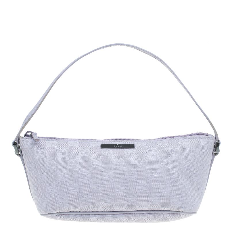 bf3292fba4f Buy Gucci Purple GG monogram Small baguette bag 46686 at best price ...