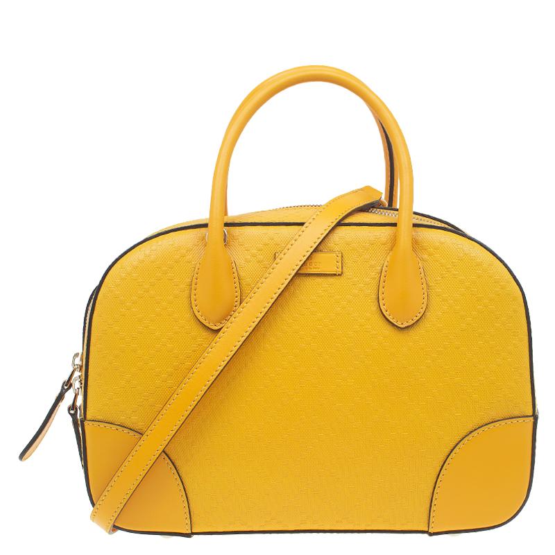 a54b200e2d5492 Buy Gucci Yellow Bright Diamante Leather Small Top Handle Bag 52078 ...