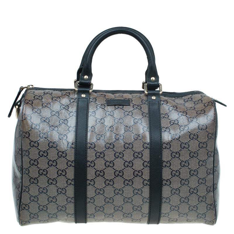 0d5db63a58 ... Gucci Black GG Crystal Coated Canvas Medium Joy Boston Bag. nextprev.  prevnext