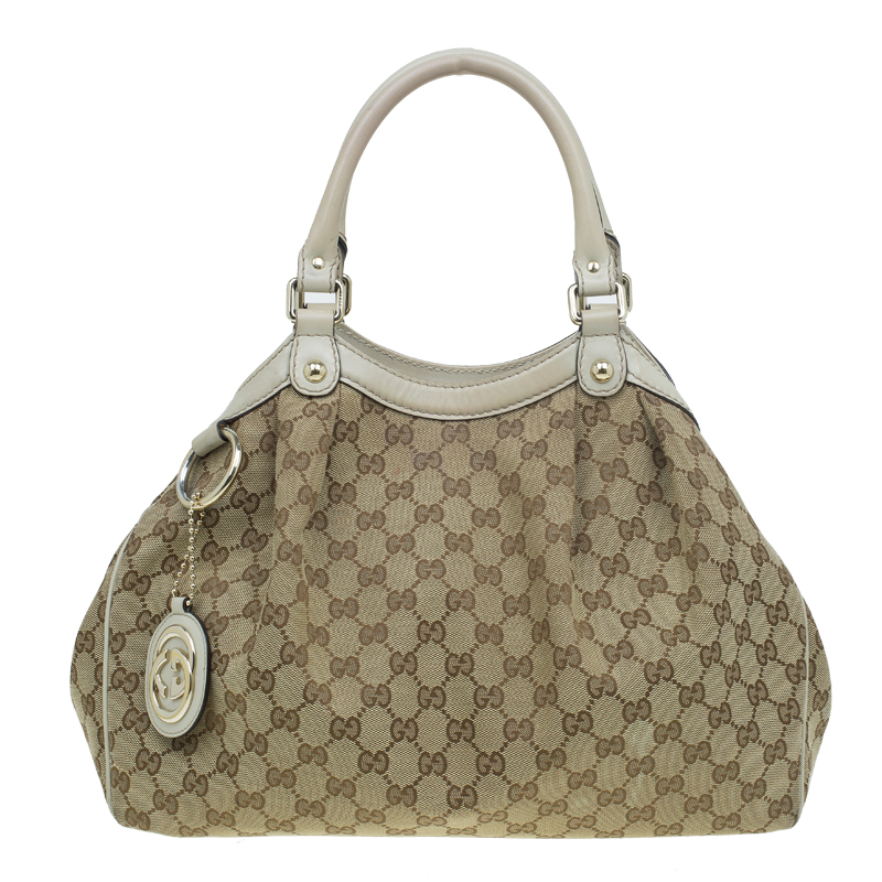 a960d30a04e Buy Gucci Beige GG Canvas Medium Sukey Tote 55729 at best price