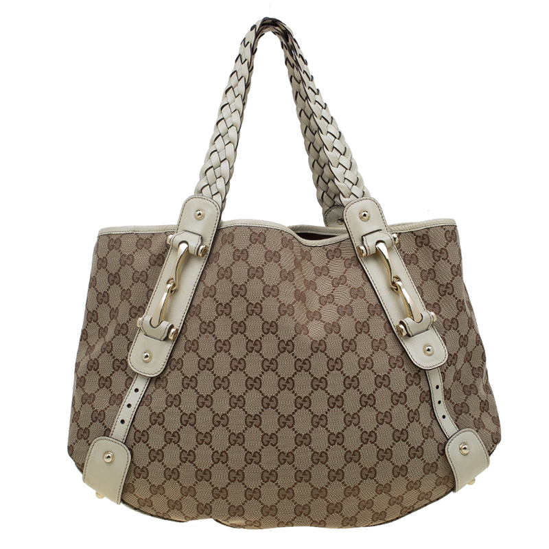 7fc84b5931ec ... Gucci Beige/White GG Canvas Medium Pelham Shoulder Bag. nextprev.  prevnext