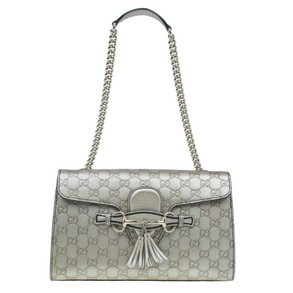 283cb72c31cf ... Gucci Metallic Gold Guccissima Leather Emily Chain Shoulder Bag.  nextprev. prevnext