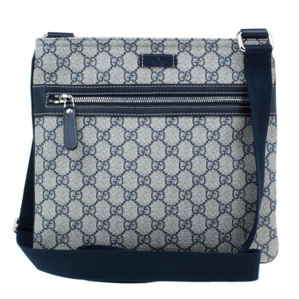 ee5cf1e61a0c ... Gucci Monogram Canvas GG Supreme Flat Messenger Bag. nextprev. prevnext